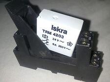 ISKRA TRM 4203 COIL 24 V AC RELAY RELE + ZOCALO ES50