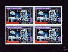 GRENADA - 1970 - APOLLO 11 - MOON ROCKS - ASTRONAUT - MINT - OVPT - BLOCK!