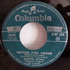 MONETTE AUVRAY Histoire d un amour / concerto d automne SCRF 234 JUKE BOX