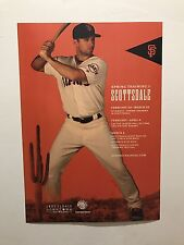 San Fransisco Giants Scottsdale Spring Training 2017 Collectible Baseball Poster
