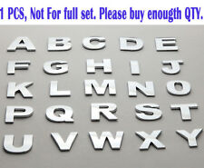 1 Piece Individual Car Auto 3D Chrome Letters or Numbers Emblem, Badge Sticker