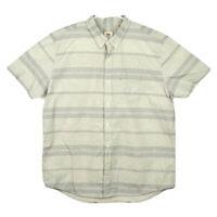 Levi's Mens XXL Grey White Striped Short Sleeve Button Down Shirt Front Pocket
