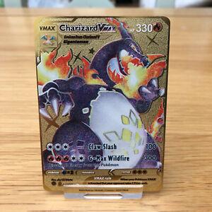 Pokemon Charizard VMAX SSR 074/073 GOLD METAL CARD - SWSH English - NEW