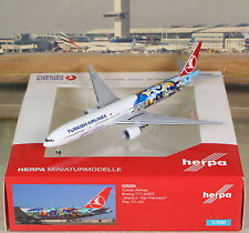 "Herpa Wings Turkish ""IST-SFO"" B777-300ER (NG) 1/500"