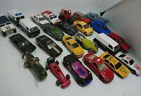 Joblot 24 Toy Cars Vehicles Playworn Mattel Maisto Matchbox Real Toys