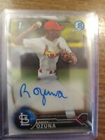 2016 Bowman Chrome St Louis Cardinals Raffy Ozuna autograph