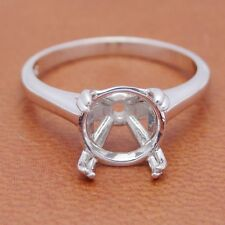 9MM ROUND 10K WHITE GOLD CATHEDRAL SOLITAIRE SETTING SEMI MOUNT ENGAGEMENT RING
