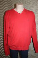 LUXUS 100% Baumwolle Cotton Pullover Strickjacke TOMMY HILFIN Gr. XL L 52 54 ROT