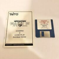 Operation Wolf 1989 Taito Vintage IBM Floppy Disk Vintage PC Video Game Disc A