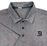Nike Golf Cessna Gray Black Dri Fit Short Sleeve Polo Shirt - Mens XL