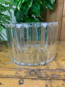 VINTAGE ART DECO CRYSTAL PILLAR RETRO PENDANT CEILING LIGHT SHADE 3 AVAILABLE