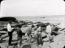 QUIBERON 1905 - Pêcheurs Coquillages - Bretagne Positif Verre 10 x 8 - 75
