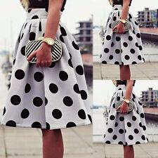 Fashion Women's Bodycon Polka Dot Umbrella Skirt Hight Waist Retro Puff Skirts