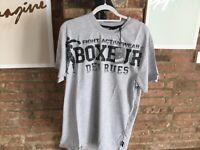 Boxeur Des Rues Series Fight Activewear  Men's T-Shirt  - Grey - XXL