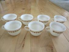 Corelle Pyrex Butterfly Gold Set Seven Flat Bottom Coffee Cups Standard Handles
