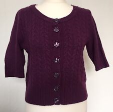 New Look Women's Size Medium Purple Knitted Lambs Wool Cardigan / Jumper