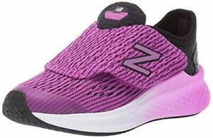Kids New Balance Girls PTFSTTP Fabric Low Top, Black/Voltage Violet, Size 2.5 rY