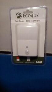 Eco4us 2 Color LED Night Light Motion Activated compact slim design Nightlight