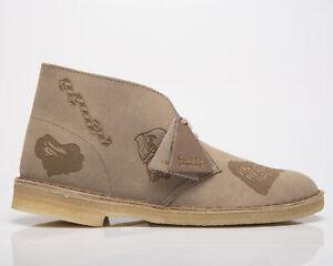 Clarks Originals x BAPE Desert Boot Men's Grey Embossed Casual Lifestyle Shoes