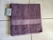 Cindy Crawford Black Plum 100% Egyptian Cotton Dry Fast Bath Towel