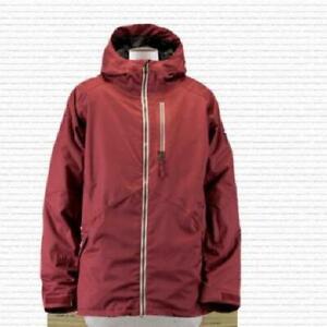 Ride Admiral 20K Snowboard Jacket, Men's Large, Maroon New