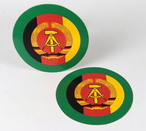 2 Hoheitszeichen Emblem DDR Original, NVA, Aufkleber