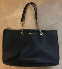 Michael Kors Jet Set Travel Chain Black Shoulder Tote Bag