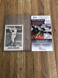 Richie Ashburn 1977 TCMA JSA COA Autograph Authentic Hand Signed Phillies Fr Shp