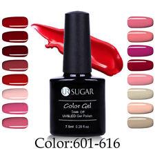 UV Gel Nail Polish Soak Off Pure Colors Gel Varnish Manicure Blue Black Shiny