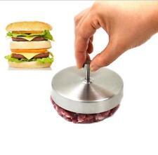 Hamburger Burger Press Stainless Non-stick Meat Patty Maker Mold BBQ Grill JJ