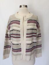 New Madewell $158 Paillette-stripe Cardigan Sweater ANTIQUE CREAM Sz XS H3421