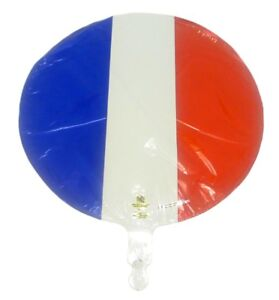 French Flag foil balloons - 3 Foil Balloons - 18 inch - Free Post