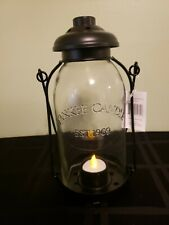 Yankee Candle Mason Jar Tealight Hanging Lantern Country Farmhouse Decor