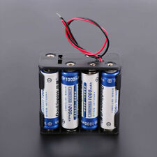 12V Plastic Battery Holder Case For 8Pcs AA Batteries Wire Leads Double Layer