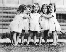 Photo. 1936-7. Five Girls - Dionne Quintuplets