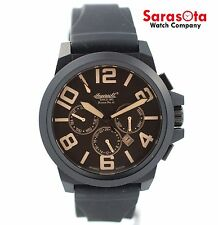 Ingersoll Bison NO.42 IN4107 Black Ion Steel Chronograph Automatic Men's Watch