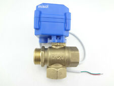 "3 way motorized ball valve 3/4"" BSP DN20(reduce port) T port electric ball valve"