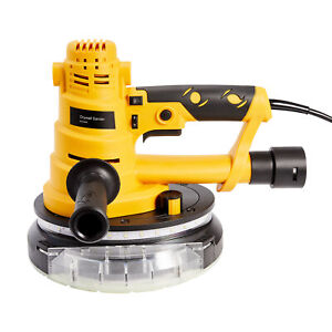 750W Drywall Sander with LED Lights Vacuum  Attachment & Sanding Discs 6 Speeds