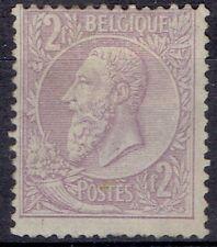 Belgium. 1886 - 91. 2 Franc Violet pale lilac. Mh. Scott 59.