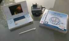 Nintendo DS Lite Handheld Games Console White   Clean Condition + Brain Training