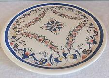 Digoin Sarreguemines plat tarte gateau décor Rouen cake plate