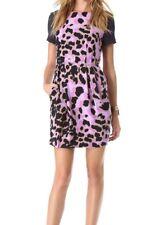 CLUB MONACO Navy Leopard Short Sleeve Short Dress Offices Races Party US6 AU10
