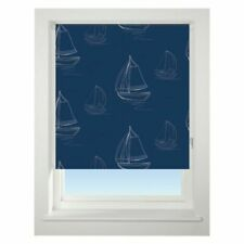 Universal 60cm Navy Boats Blackout Roller Blind Window Dressings