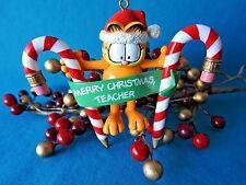 Paws 20 years of Garfield Ornament 1996 Garfield Merry Christmas Teacher Pencils