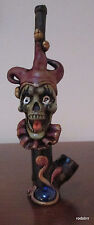 Collectible Evil Jester Tobacco Pipe Handmade and Painted Smoking