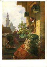 Alte Kunstpostkarte - Der Blumenfreund von Carl Spitzweg