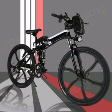 26'' Electric Bike Folding Mountain Bicycle E-MTB E-Bike Shimano 21Speed USA