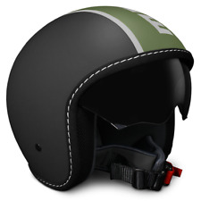 CASCO MOMO DESIGN BLADE FROST BLACK MILITARY GREEN VISIERINO A SCOMPARSA TG. ML