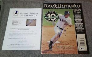 Mike Trout Rookie Signed Baseball America Magazine Autographed Beckett LOA COA