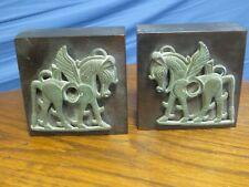 Paire de presse-livre avec des chevaux Perse en Bronze